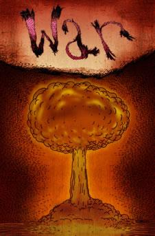 War: A mushroom cloud. (http://www.bbc.co.uk/schools/gcsebitesize/english_literature/images/lotf_small_20.jpg)
