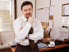 Image from sitcom 'The Office'. Manager David Brent in his office. (http://www.bbc.co.uk/schools/gcsebitesize/business/images/people.jpg)