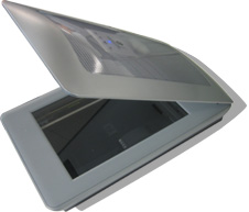 silver scanner with lid open (http://www.bbc.co.uk/schools/gcsebitesize/ict/images/scanner.jpg)