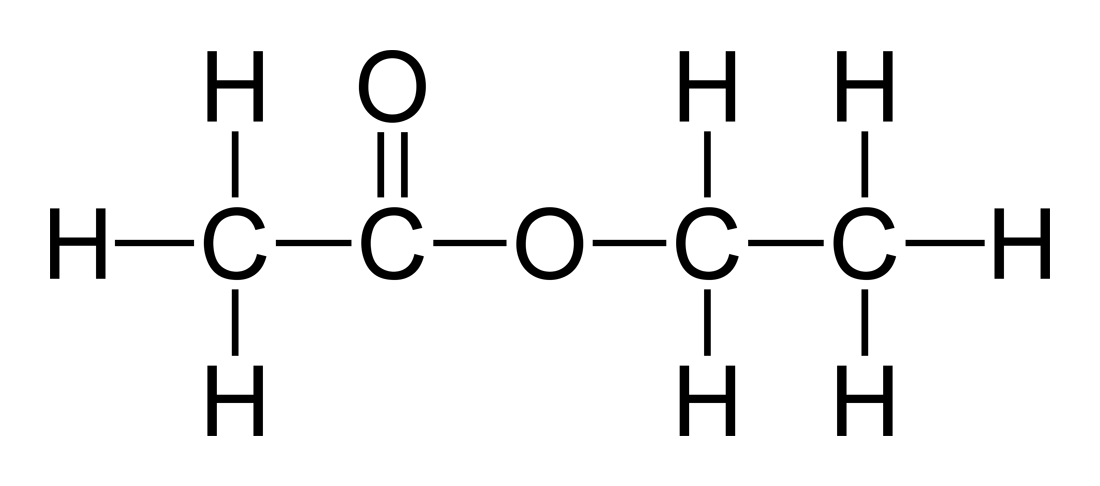 (http://upload.wikimedia.org/wikipedia/commons/2/27/Ethyl-acetate-2D-flat.png)