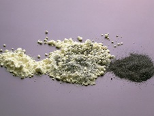 mixture of powders (http://www.bbc.co.uk/schools/gcsebitesize/science/images/react_comp_2.jpg)
