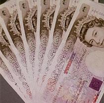 £20 notes spread out like a fan (http://www.bbc.co.uk/schools/gcsebitesize/business/images/cash.jpg)