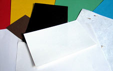 coloured paper and card, coated paper, different weights, handmade paper (http://www.bbc.co.uk/schools/gcsebitesize/design/images/gr_paper.jpg)