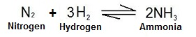 Chemical equation for the Haber process (http://study.com/cimages/multimages/16/chemical_equation_process.jpg)