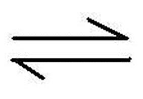 Image result for reversible reaction (http://study.com/cimages/multimages/16/equilibrium_symbol.jpg)