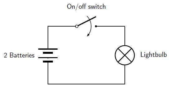 simple electrical circuit diagram - 543×288