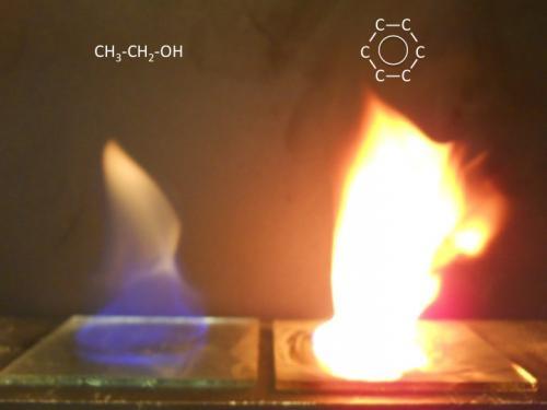 Image result for benzene flame (http://pfefferlehallerlabs.yale.edu/sites/default/files/resize/images/ethanol%20vs%20benzene-500x375.jpg)