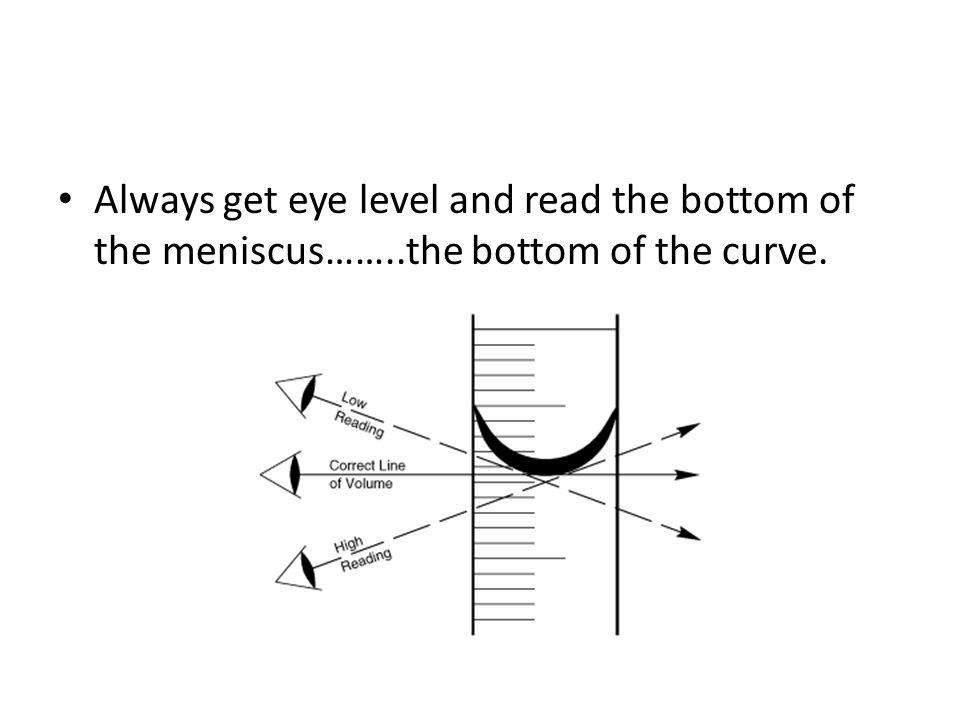 Image result for bottom ofmeniscus along graduation line (http://images.slideplayer.com/25/8162141/slides/slide_7.jpg)