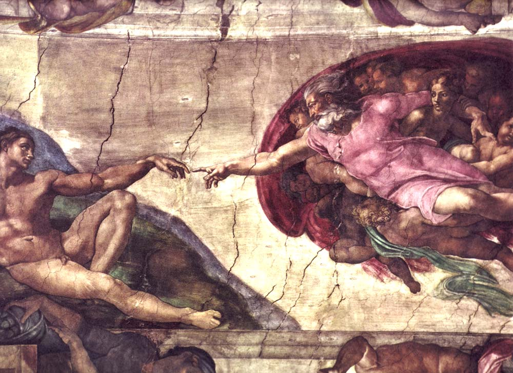 See the source image (http://upload.wikimedia.org/wikipedia/commons/f/f2/Creation_of_Adam.jpg)