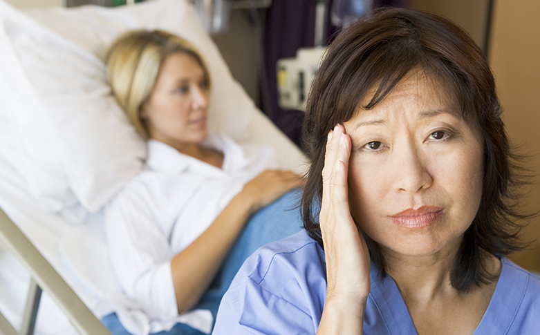 Image result for staff in hospital working late hours unhappy (http://scrubsmag.com/wp-content/uploads/10no1.jpg)