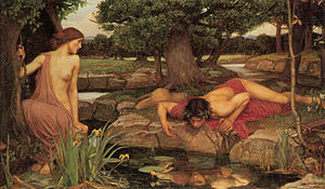 (http://upload.wikimedia.org/wikipedia/commons/thumb/9/91/Echo_and_Narcissus.jpg/300px-Echo_and_Narcissus.jpg)