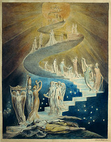 Jacob's ladder (http://upload.wikimedia.org/wikipedia/commons/thumb/e/ea/Blake_jacobsladder.jpg/220px-Blake_jacobsladder.jpg)