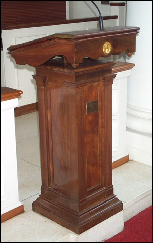 (http://www.hmsconway.org/images/relics_lectern_at_USMA.jpg)