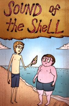 Sound of the Shell: Ralph and Piggy on the beach, holding the conch. (http://www.bbc.co.uk/schools/gcsebitesize/english_literature/images/lotf_small_01.jpg)