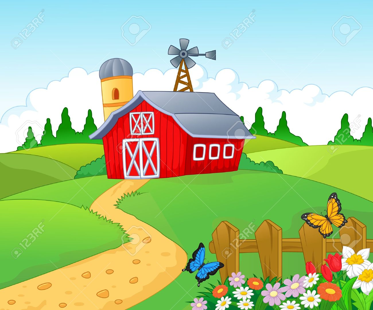 (http://previews.123rf.com/images/tigatelu/tigatelu1404/tigatelu140400174/27656550-Farm-cartoon-background--Stock-Vector-landscape.jpg)