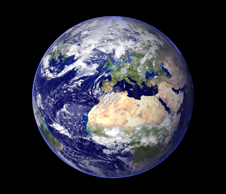 planet earth, as seen from space (http://www.bbc.co.uk/schools/gcsebitesize/science/images/earth4.jpg)