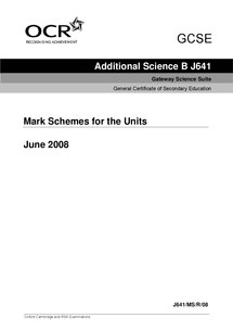 Preview of 11th June 08' Mark Scheme