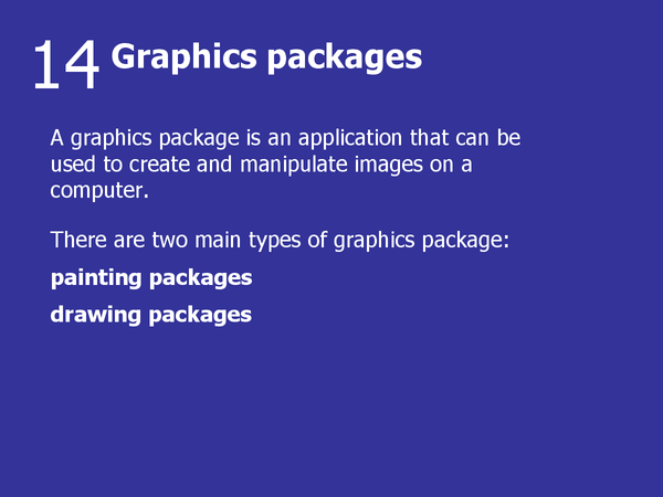 Preview of 14 - Graphics Packages
