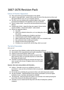 Preview of 1667-1678 Note Pack - British History