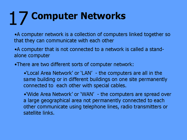 Preview of 17 - Computer Networks