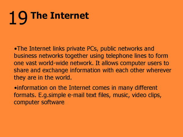 Preview of 19 - the Internet