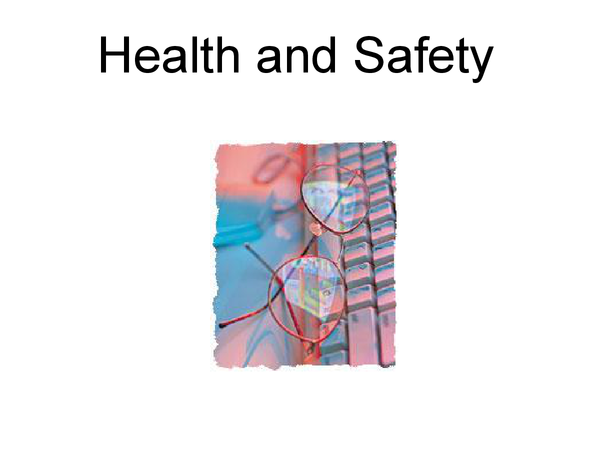 Preview of 24 - Health and Safety