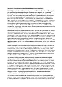 Preview of 2 bio explanations of schizo