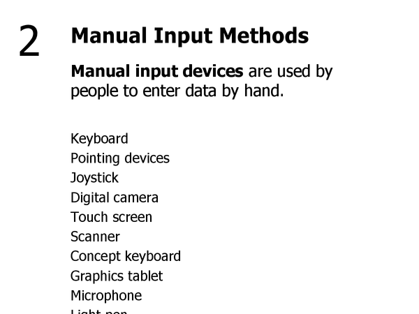 Preview of 2 - Manual Input Methods
