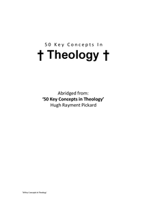 Preview of 50 Key Concepts in Theology and the Philosophy of Religion