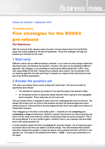 Preview of 5 strategies for the BUSS4 pre-release - AQA A2 Business Studies BUSS4 pre-release 2014 - China - Business Review