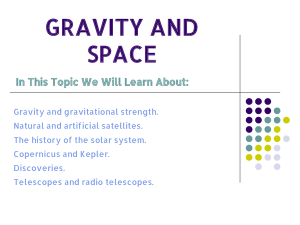 Preview of 9 J Gravity and Space