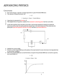 Preview of A2 Advancing Physics - OCR B (Capacitance)