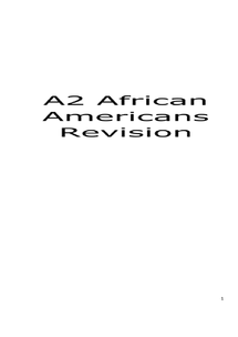 Preview of A2 History Civil Rights African Americans Revision Guide (OCR)