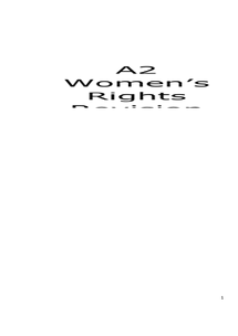 Preview of A2 History Civil Rights Women Revision Guide (OCR)