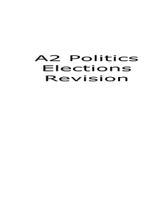 Preview of A2 Politics GOV3A Electoral Process and Direct Democracy Revision Guide (AQA)