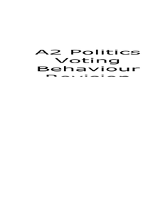 Preview of A2 Politics GOV3A Voting Behaviour Revision Guide (AQA)