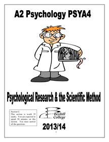 Preview of A2 Research Methods Booklet