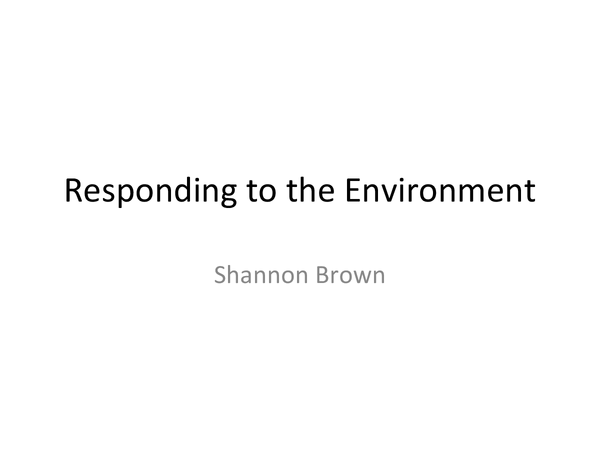Preview of A2 Biology F215 Responding to the Environment - Behaviour OCR