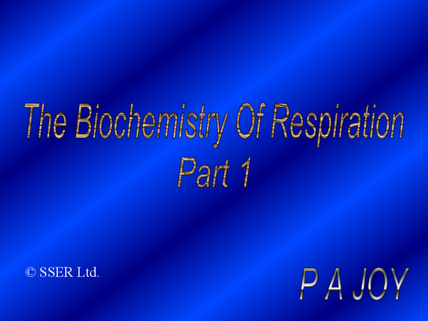 Preview of A2 Biology: respiration powerpoint