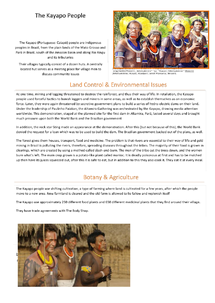 Preview of A2 Geography 4B - Kayapo Tribe