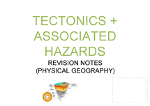 Preview of A2 GEOGRAPHY REVISION NOTES AQA TECTONICS