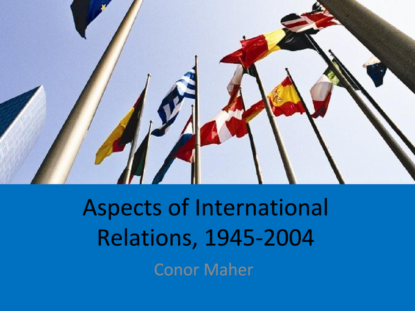 Preview of A2 History International Relations, Section 2 - From Cold War to Détente Revision Guide