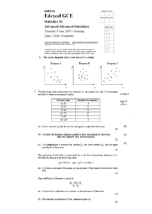 Preview of AS/A2 Mathematics S1 PAST PAPERS FROM JUNE 2005- JAN 2012