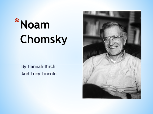 Preview of A2 NOAM CHOMSKY LANGUAGE ACQUISITION THEORIST POWERPOINT