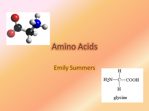Preview of A2 OCR CHEMISTRY AMINO ACIDS
