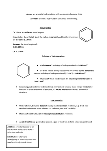 Preview of A2 OCR CHEMISTRY BENZENE RECALL