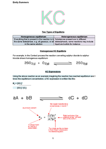 Preview of A2 OCR Chemistry: KC