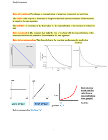 Preview of A2 OCR Chemistry: Rates of Reaction