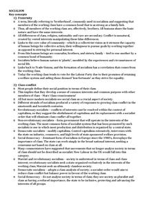 Preview of A2 Politics Socialism Notes