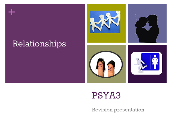 Preview of A2 Psychology AQA A RELATIONSHIPS revision presentation